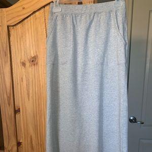 Athletic heather grey maxi skirt